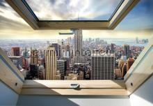 NY panorama window view fotomurais Kleurmijninterieur Todas-as-imagens