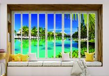 Hawai seen through window fotomurais Kleurmijninterieur Todas-as-imagens