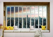 New york seen through window fotomurais Kleurmijninterieur Todas-as-imagens