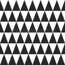 Grafische driehoeken behang Esta home Black and White 155-128845
