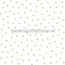 Sneeuwvol polka dot stippen wit goud behang Esta home Baby Peuter