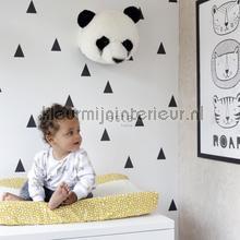Driehoekjes behang wit zwart tapet Esta home Vintage Gamle