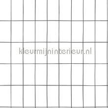 Kleine tegeltjes wit zwart behang Esta home Grafisch Abstract