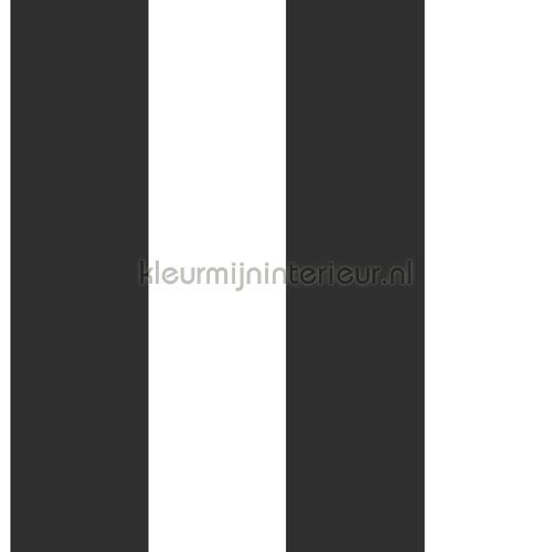 Blokstrepen zwart wit behang 155-139111 Esta home