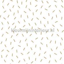 Grafisch losse streepjes wit goud behang Esta home Black and White 155-139127