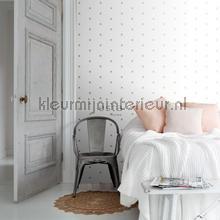 Grafisch kruismotief wit goud behang Esta home Black and White 155-139129