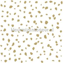 Gespikkelt terrazo wit goud behang Esta home Black and White 155-139133