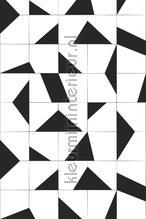 Balck and white tiles fototapeten Esta home alle bilder