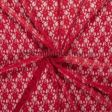Bloemenkant opengewerkt rood gordijnen Kleurmijninterieur Scion