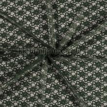 Bloemenkant opengewerkt donkergroen gordijnen Kleurmijninterieur Scion