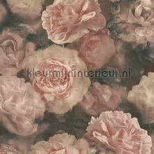 Warm rose rozen papel pintado Kleurmijninterieur Vendimia Viejo