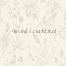 Lijntekening planten papel pintado Kleurmijninterieur Vendimia Viejo