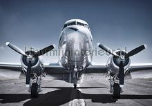 Front of an airplane fototapet Kleurmijninterieur teenagere