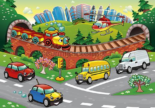Childrens cars fotomurali 13290VE-L Auto - Trasporto Kleurmijninterieur