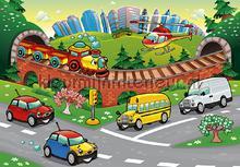 Childrens cars fototapeten Kleurmijninterieur weltraum