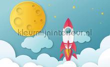 Childrens cosmos rocket papier murales Kleurmijninterieur tout images