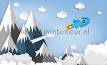 Childrens mountain rocket papier murales Kleurmijninterieur tout images