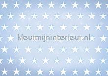 Stars white on blue background fototapeten Kleurmijninterieur weltraum
