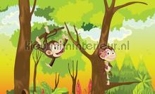 Monkeys in trees fotomurales Kleurmijninterieur Todas-las-imágenes