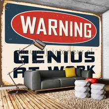 Warning Genius at work fotomurales Kleurmijninterieur Todas-las-imágenes