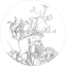 Engraves Flowers papier murales Kek Amsterdam PiP studio wallpaper