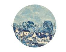 Landscape with Houses fototapet BN Wallcoverings alle billeder