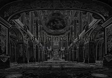 Interior in black papier murales Kleurmijninterieur structures