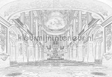 Interior in white papier murales Kleurmijninterieur structures