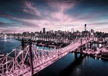 City bridge at night fototapeten Kleurmijninterieur weltkarten
