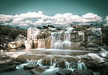 Giant waterfalls fotomurais Kleurmijninterieur Todas-as-imagens