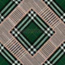 Checkered patchwork british green photomural Mindthegap Trendy Hip