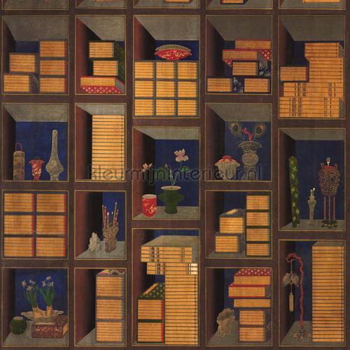 Korean library chromo papier murales WP20469 classique Mindthegap