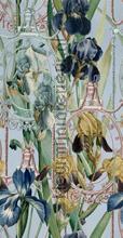 Fleurs d-iris aquamarine papier murales Mindthegap Compendium WP20476