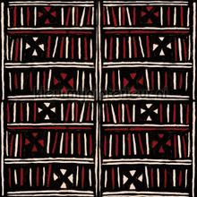 Bogolanfini recoloured papier murales Mindthegap Compendium WP20500