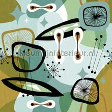Century elements green papier murales Mindthegap Compendium WP20530