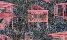 Palafitas amazonia behang Arte behang