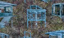 Palafitas amazonia papel de parede Arte wallpaperkit