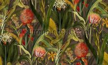 Blooming pineapple tapeten Arte uni farben