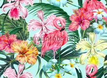 Flamingo art I fototapeten AS Creation weltraum