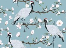 Japanese cranes fotomurais AS Creation PiP studio wallpaper