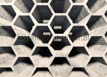 Honey comb street 2 photomural AS Creation world maps