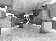 Concrete tetris papier murales AS Creation structures