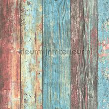Kleurrijk sloophout behang AS Creation Elements 307231