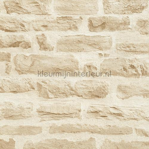 Lichte rustieke stenen muur behang 355802 AS Creation