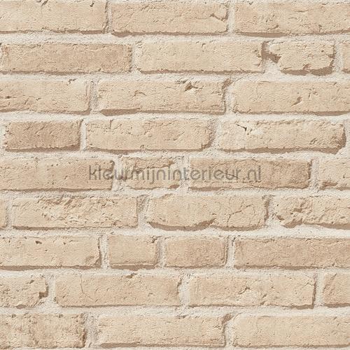 Beige bakstenen behang 355812 AS Creation