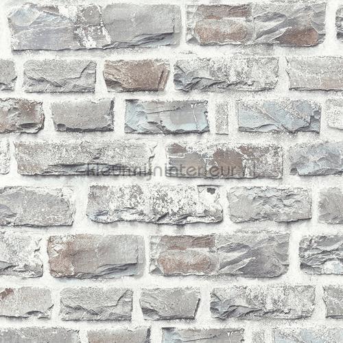 Ruwe bakstenen grijs behang 361403 AS Creation