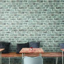 Ruwe bakstenen grijs behang AS Creation Stenen