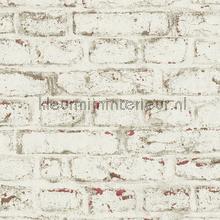 Witte muur met terrabruin accenten tapeten AS Creation uni farben