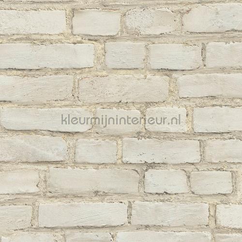 lichtbeige muur behang 374141 Stenen AS Creation