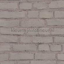 Geschilderde muur warm grijs tapeten AS Creation uni farben